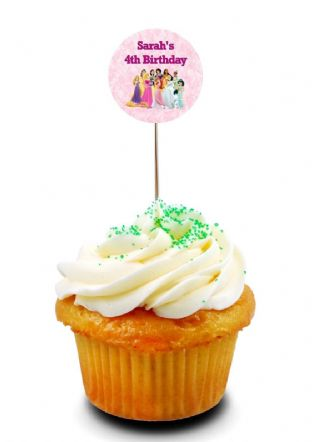Disney Princess Cupcake Picks/Toppers
